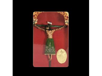 estampa de un cristo en la cruz