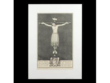 gravat que representa un Crist a la creu