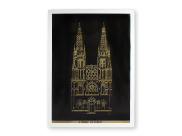 poster of the main façade of the cathedral of burgos