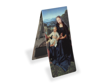 magnetic bookmark showing a virgin and child