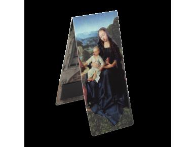 marque-page magnétique représentant une vierge à l'enfant