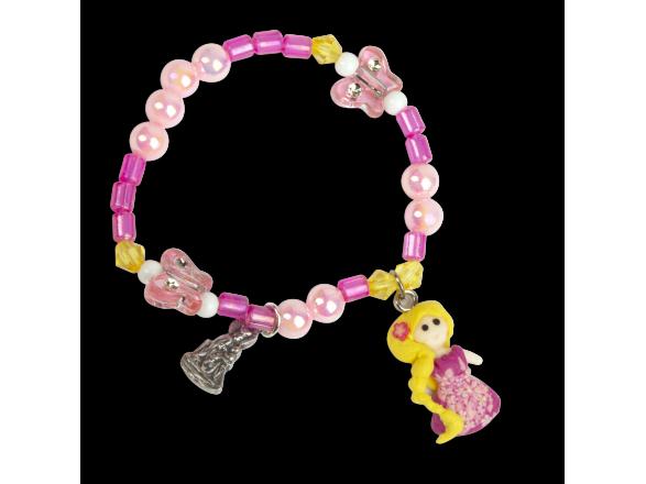 pulsera rosa para niña