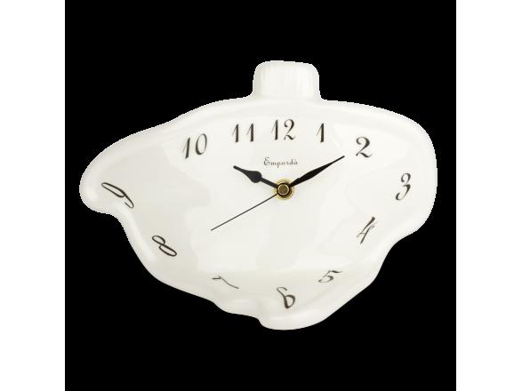 Horloge de bureau en céramique émaillée en noir et blanc