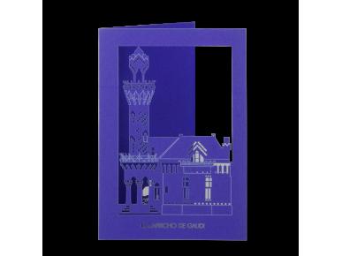 Laser Cut Postcard - El Capricho de Gaudí