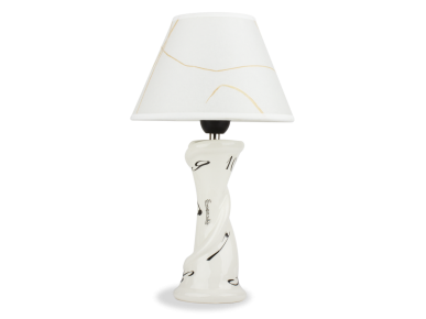 Lampe de bureau en céramique émaillée en noir et blanc