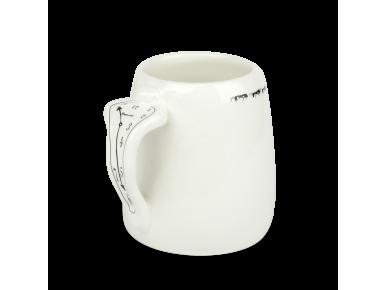 Grand mug en céramique émaillé noir et blanc