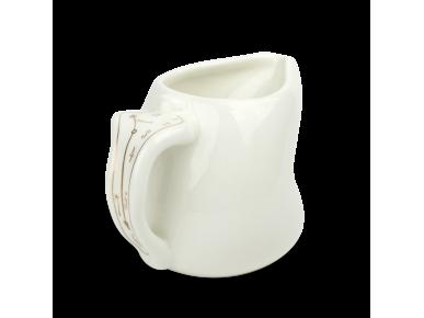 Pot à lait en céramique émaillé en blanc et or